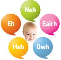 Vijf Babytaal geluiden, plaatje, voor website